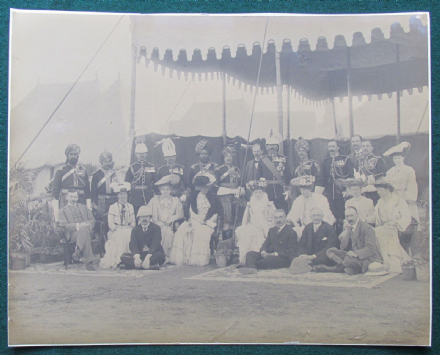 Field Marshall Earl Kitchener & British & Indian Officers in Madras India 1903